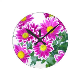 Flowers Round Clock