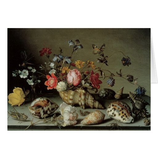 Flowers, Shells and Insects Balthasar van der Ast Greeting Card