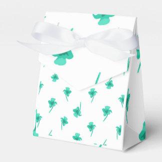 Flowers Silhouette Pattern Design Favour Box