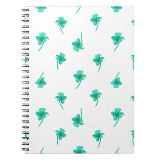 Flowers Silhouette Pattern Design Spiral Notebook