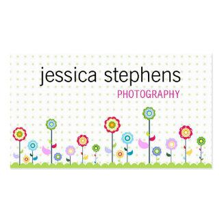 Flowers, simplistic business card