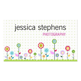 Flowers, simplistic pack of standard business cards