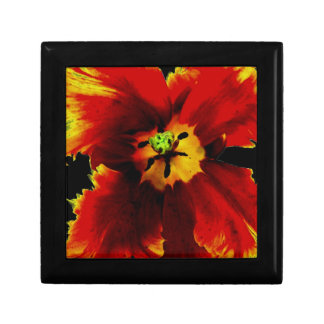 "Flowers, Small 5.125"" Square w/4.25"" Tile Gift Box"