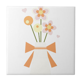 flowers small square tile