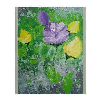 Flowers, soothing colours acrylic wall art