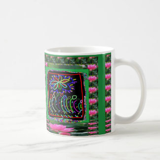 FLOWERS Sparkle Color KIDS workshop Basic White Mug