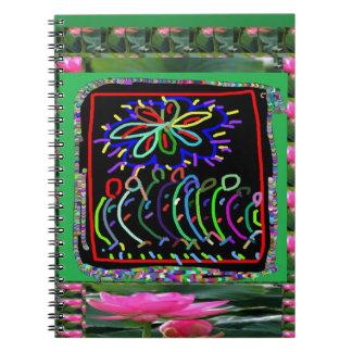 FLOWERS Sparkle Color KIDS workshop Spiral Notebook