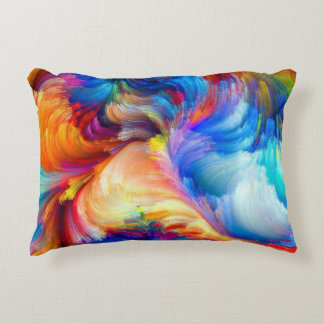 flowers-spot-relief-paint-volume-pattern-rainbow-c decorative cushion