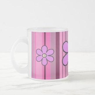 Flowers Stripe Initial Mug