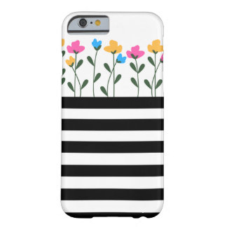 Flowers & Stripes Phone Case
