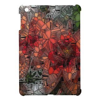 flowers such as stained glass iPad mini cases