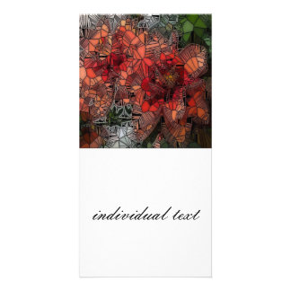 flowers such as stained glass photo card template