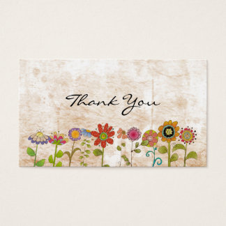 Flowers thank you business card
