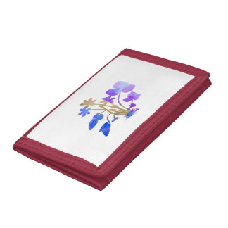 Flowers Tri-fold Wallets
