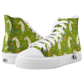 Flowers & Unicorns Printed Shoes