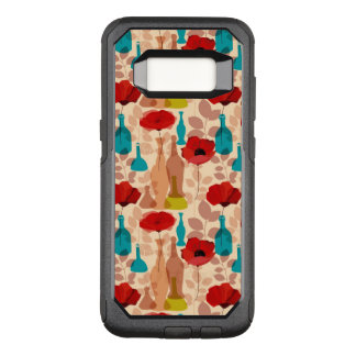 Flowers, vases and bottles pattern OtterBox commuter samsung galaxy s8 case