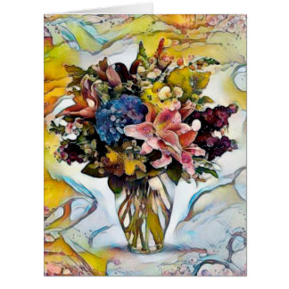 Flowers Watercolour - Big Greeting Card