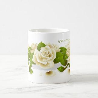 Flowers  White Roses Mug
