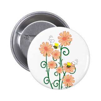 Flowers with bees button