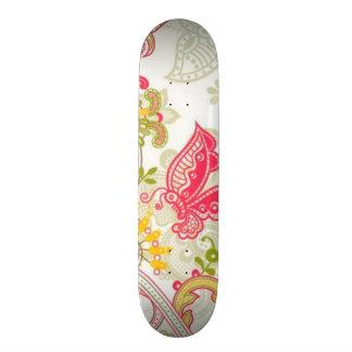 flowers with butterfly custom skateboard