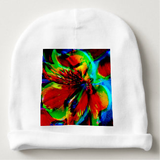 Flowers with color kick 1 baby beanie