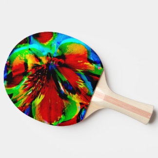 Flowers with color kick 1 ping pong paddle