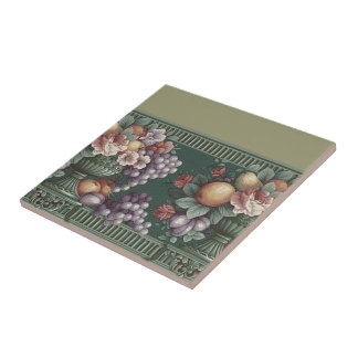 Flowers with Fruit Designed Tile
