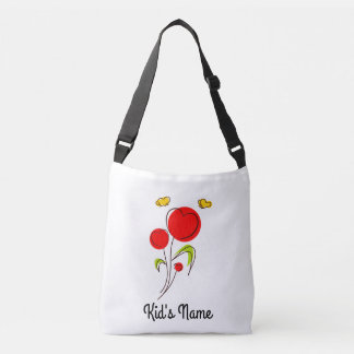 Flowers with Hearts Crossbody Bag