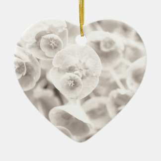 Flowers within Flowers Ceramic Heart Decoration