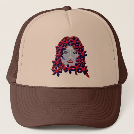Flowers Women Trucker Hat