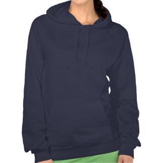 FLOWERS: Women's Fleece Pullover Hoodie NAVY
