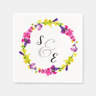 Flowers wreath for all occassions disposable serviette