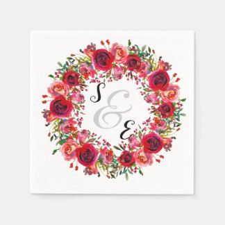 Flowers wreath for all occassions paper napkin