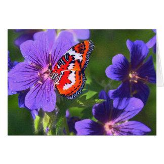 Flowersbutterfly Stationery Note Card