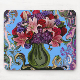 Flowerscape With Butterflies Mouse Pad. Mouse Pad