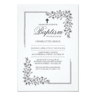 Flowery Blessing Religious Invitation