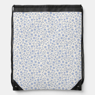 Flowery Drawstring Bag
