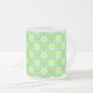 Flowery Fence of Caffeine Splendor Frosted Glass Coffee Mug