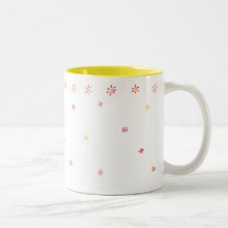 Flowery & Hunter Two-Tone Yellow Mug