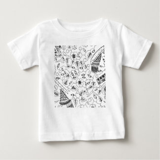 Flowery Indonesian Textile with Birds Baby T-Shirt