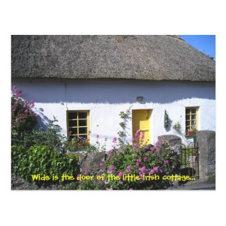 Flowery Irish Cottage Postcard