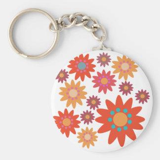 Flowery kit key ring