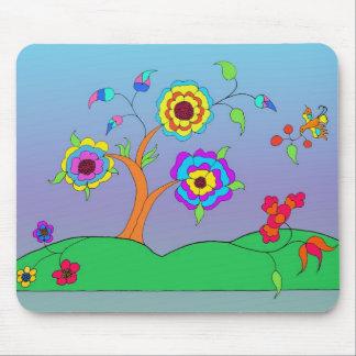 Flowery Landscape Girls Mousepads