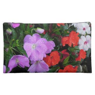 Flowery medium sized make-up bag cosmetic bags