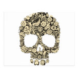 Flowery Ornate Skull Postcard