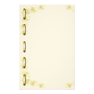 """Flowery paper of letter """"with lace """" stationery"""