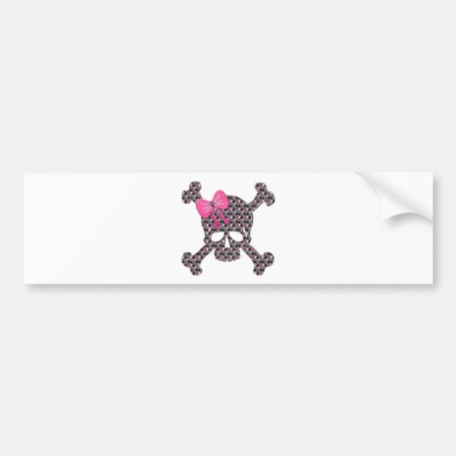 Flowery Skull Bumper Sticker