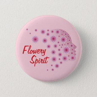 Flowery Spirit 6 Cm Round Badge