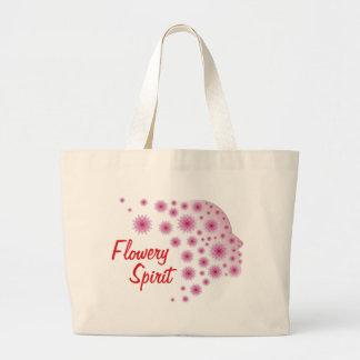 Flowery Spirit Large Tote Bag