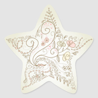 Flowery Star Stickers